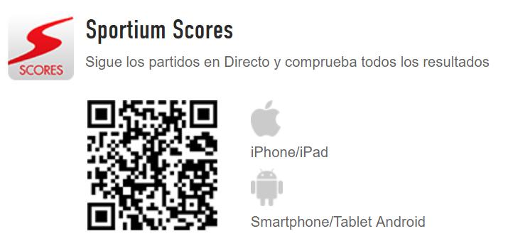 App móvil Sportium