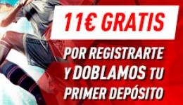 11€ gratis con tu registro en Sportium